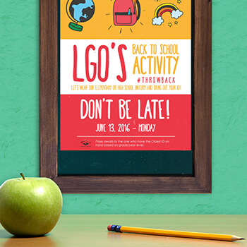 LGO Back to School 2016 Poster Design