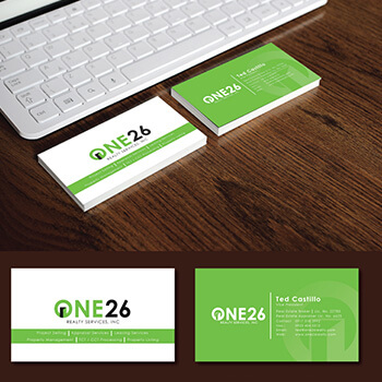 One 26 Realty Services, Inc. Business Card Design