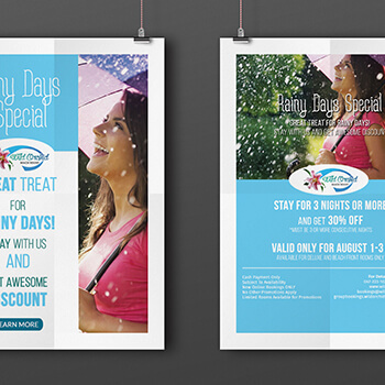 Wild Orchid Rainy Days Special Ad Design