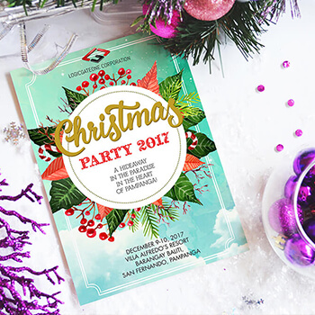 LGO Christmas Party 2017 Poster Design