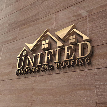 Unified Windows & Roofing Logo Design
